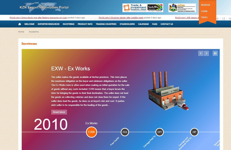 Portfolio - KZN Export Information Portal